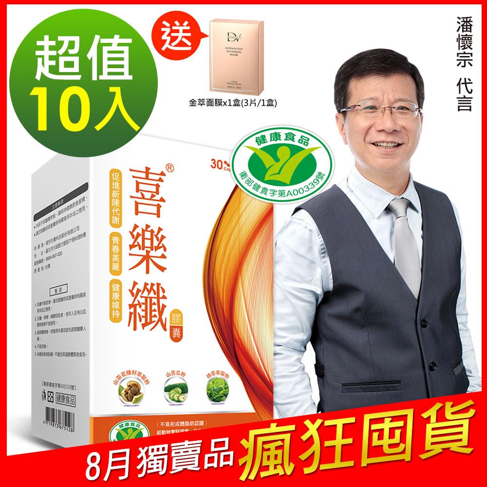 DV笛絲薇夢-潘懷宗推薦 喜樂纖膠囊10盒
