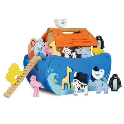 英國 Le Toy Van- Petilou系列啟蒙玩具系列-諾亞方舟動物探索啟蒙木質玩具