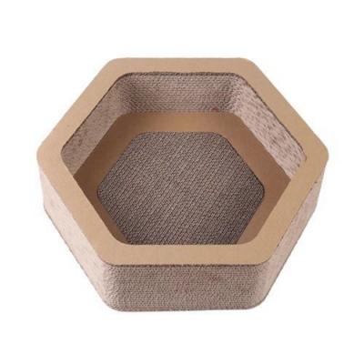 寵喵樂《六角邊型風水寶地 貓抓板/睡窩》SY-706X2入組