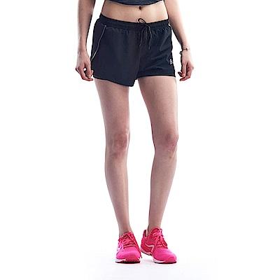 【ZEPRO】女子側邊開岔黑條運動跑褲-黑