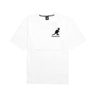 Kangol T恤 Printed Tee 運動休閒 男款 袋鼠 圓領 基本款 棉質 穿搭推薦 白 黑 6021101400