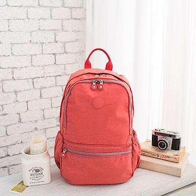 COUNT DUCK 美系悠活輕量運動型後背包-CD-012-粉橘
