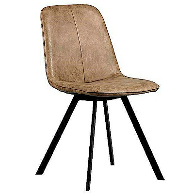 AS-葛瑞絲淺咖布鐵腳餐椅-46x59x84cm