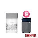 [買罐贈袋]THERMOS膳魔師不鏽鋼真空食物燜燒罐0.5L典雅蕾絲
