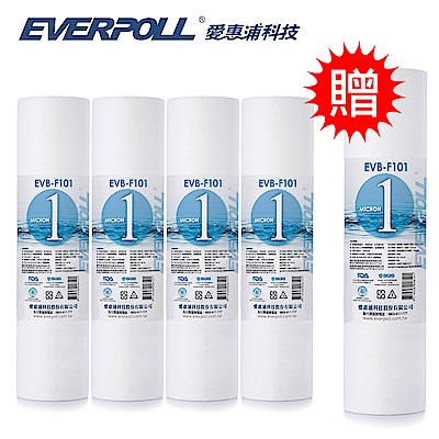 EVERPOLL愛惠浦科技 10吋一般型PP濾芯 EVB-F101 [買4+送1]
