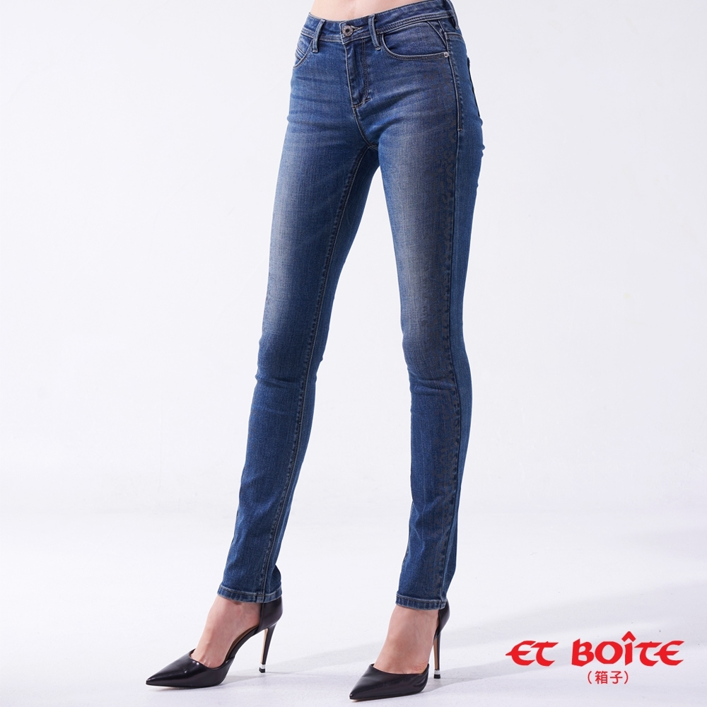 ET BOITE 箱子 BLUE WAY-豹紋高腰直筒褲
