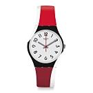 Swatch Bau 包浩斯系列手錶 REDTWIST 酷炫紅 -34mm