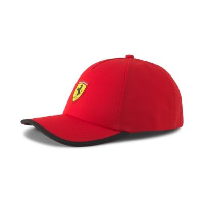 PUMA-男女Ferrari Race系列棒球帽-法拉利紅