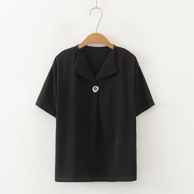 【韓國K.W.】(預購) 明星款自在步伐短袖襯衫上衣