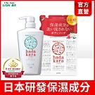 日本獅王LION 肌潤保濕沐浴乳 清新皂氛 500mlx1+茉莉玫瑰360mlx1