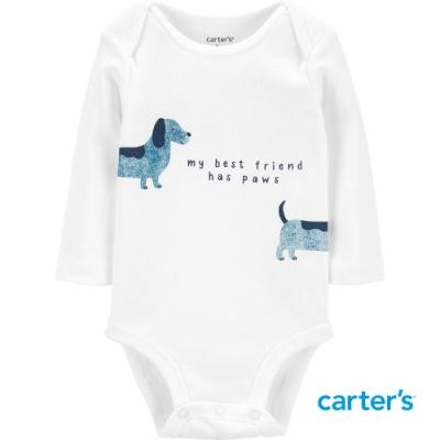 【Carter s】狗狗好朋友長袖包屁衣(6M-24M)(台灣總代理)