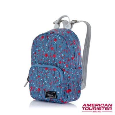 AT美國旅行者 Burzter 極輕量迷你休閒後背包(粉紫花)