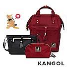 【KANGOL】週年紀念款輕量尼龍包-3件套組(多色任選 6825)