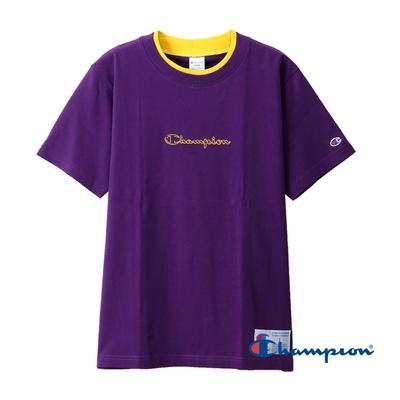 Champion AS刺繡字體短TEE(紫色)