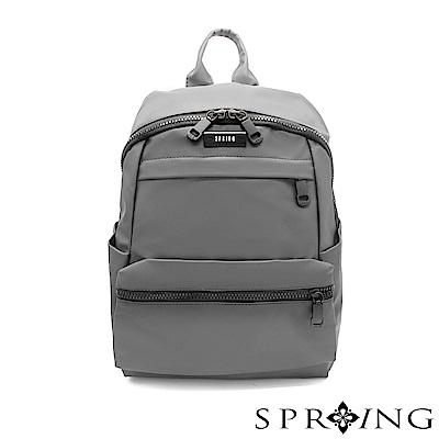 SPRING-微光澤輕量後背包-古銅灰