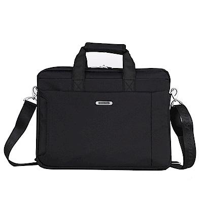 KB8716BK歐風商務側背包15.6吋黑色