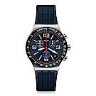 Swatch 金屬系列 BLUE GRID 藍色秩序