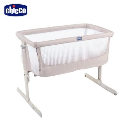 chicco-Next 2 Me多功能親密安撫嬰兒床邊床Air版-亞麻棕