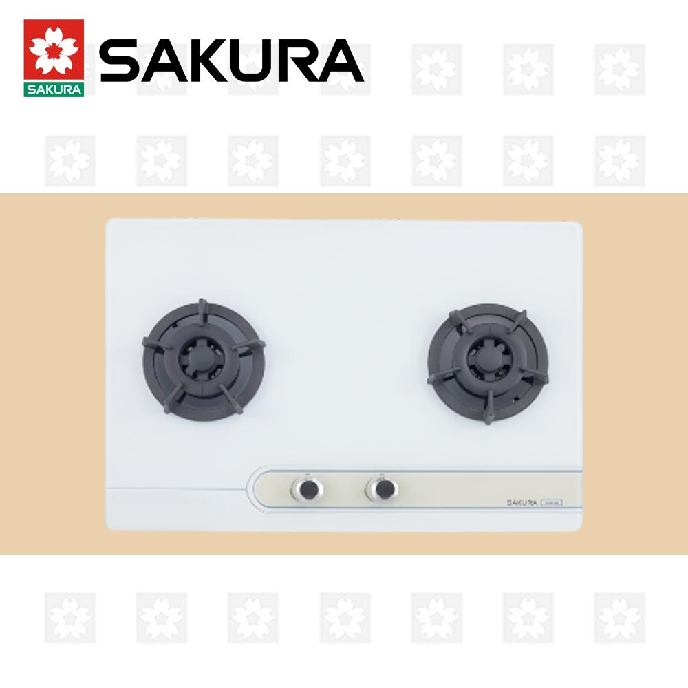 櫻花牌 SAKURA 二口大面板易清檯面爐 G-2623G 天然瓦斯 限北北基配送