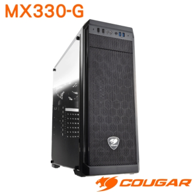 COUGAR 美洲獅 MX330-G 鋼化玻璃全景透視機殼 中型機箱