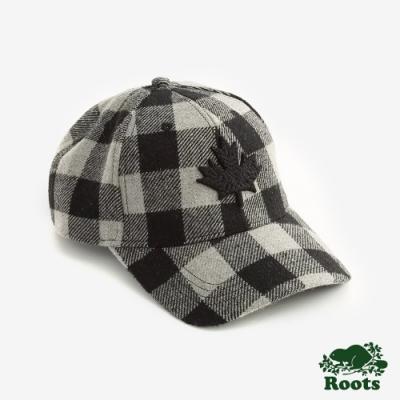 配件- 經典格紋楓葉棒球帽-灰色