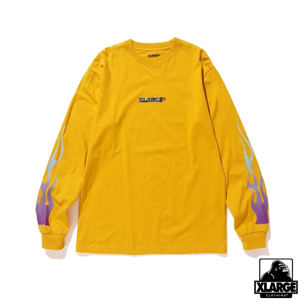 XLARGE LST FIRE STANDARD LG長袖T恤-黃