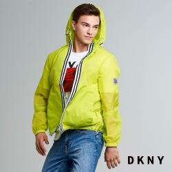 DKNY 男款 簡約休閒運動連帽外套 黃