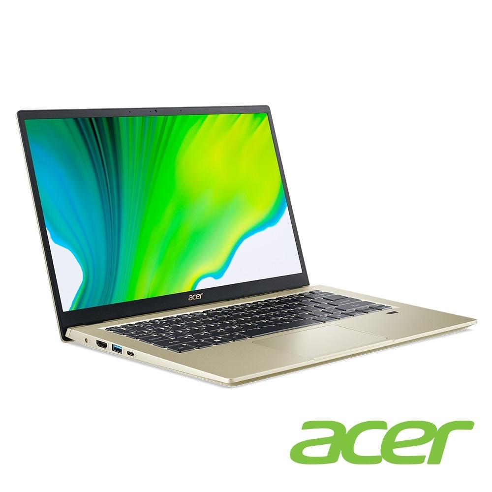 (福利品)Acer SF314-510G-58TG 14吋筆電(i5-1135G7/Iris Xe MAX/8G/512G SSD/Swift 3/金)