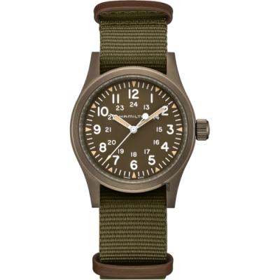 HAMILTON 卡其野戰系列手動上鍊軍錶H69449961-38mm