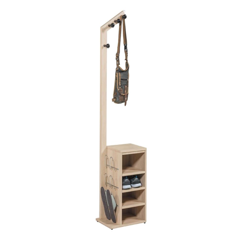Boden-克魯淺色多功能收納衣帽架/鞋架(含鞋插)DIY組裝-40x30x176cm