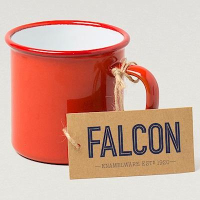 英國Falcon 獵鷹琺瑯 琺瑯馬克杯 水杯 350ml 紅白