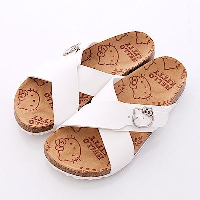 Hello Kitty-凱蒂飾扣涼鞋款-NI16090白(女段)