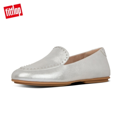 FitFlop LENA MICROSTUD PATENT LOAFERS 銀