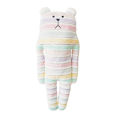 (買就送吊飾)CRAFTHOLIC宇宙人 花俏緞帶熊大抱枕