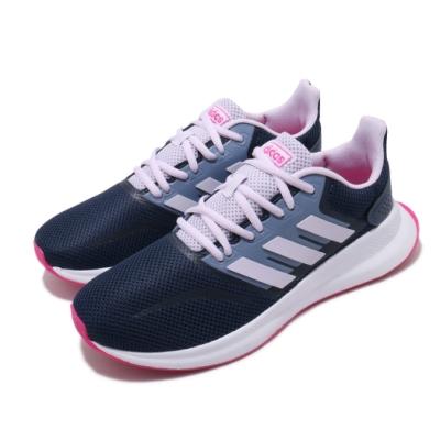 adidas 慢跑鞋 Runfalcon K 運動 女鞋 路跑 緩震 透氣 球鞋 大童 藍 紫 EG2540