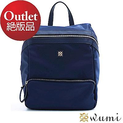 WuMi 無米  輕巧貝蒂尼龍配皮多用途後背包  共二色