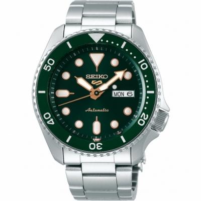 SEIKO 精工 5 Sports 系列綠水鬼機械錶-42.5mm(4R36-07G0G/SRPD63K1)