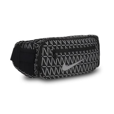 Nike 腰包 Run Waist Pack 運動休閒 男女款 斜背包 外出 輕便 小包 穿搭 黑 銀 N1002479082OS