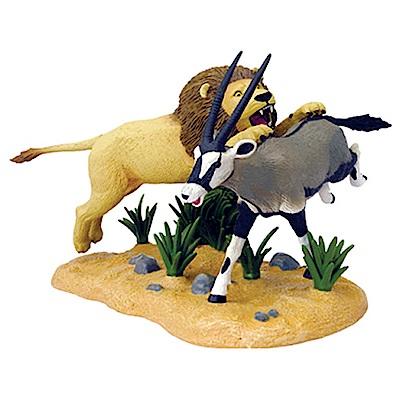 4D MASTER 立體拼組模型動物系列-獅子與羚羊