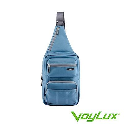 VoyLux 伯勒仕- 魔術收摺系列粗丹尼跨身直式肩背包-孔雀藍3684118