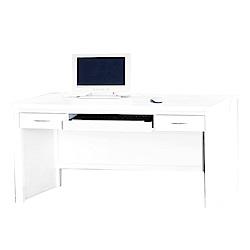綠活居 艾嘉莉5尺木紋書桌/電腦桌(二色)-150.9x57.6x78.5cm-免組