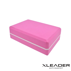 Leader X  環保EVA高密度防滑 雙色夾心瑜珈磚 粉色 - 急