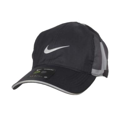 NIKE 運動帽-DRI-FIT 台灣製 遮陽 防曬 帽子 鴨舌帽 CU6275-070 深灰銀橄綠