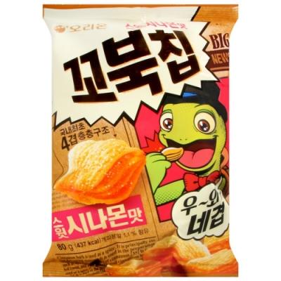 ORION 烏龜玉米脆餅-蜜糖肉桂風味(80g)
