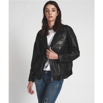 OneTeaspoon 皮夾克 LEATHER JACKET - 女(黑)