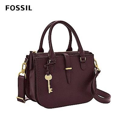 FOSSIL 母親節優惠 RYDER 小資女孩約會必備紫色手提側揹兩用包 ZB7811503