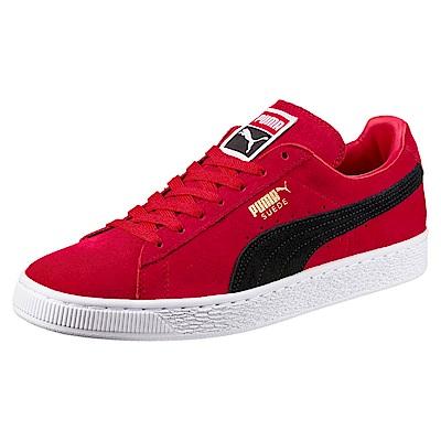 PUMA-SuedeClassic+復古籃球鞋-緞帶紅