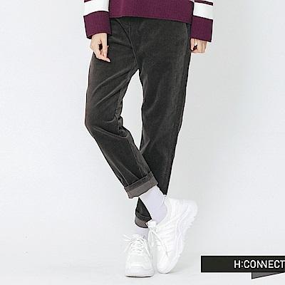H:CONNECT 韓國品牌 女裝-質感毛絨直筒長褲-灰