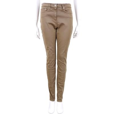 ELISABETTA FRANCHI 咖棕色修身版類丹寧休閒長褲