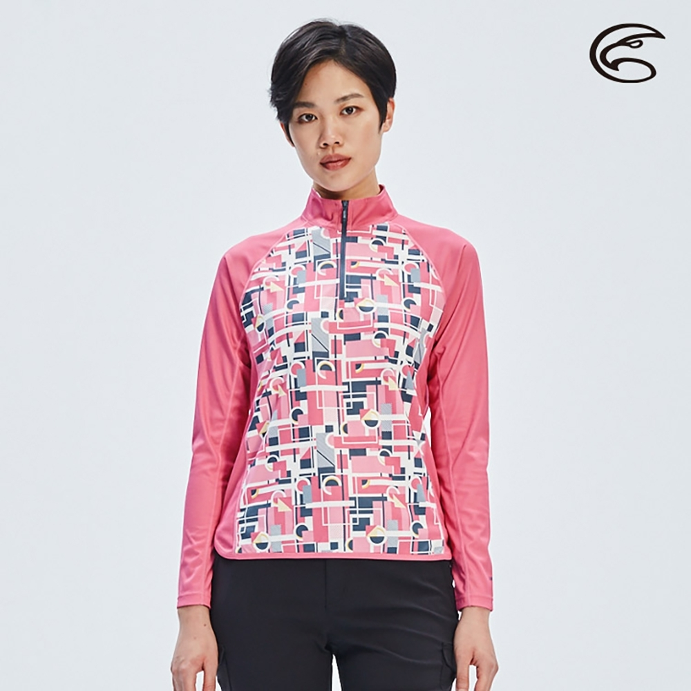 ADISI 女UPF50+防曬長袖半門襟排汗衣AL2011069 (S-2XL)